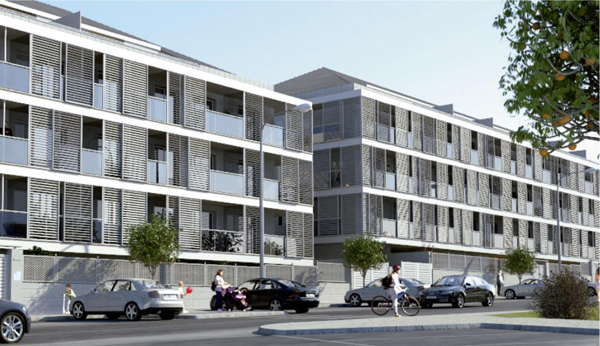 Tres edificios para 200 viviendas en noalla sanxenxo for Viviendas sobre terrazas