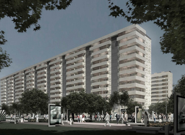 Edificios de 258 viviendas en la rosaleda ponferrada - Arquitectos ponferrada ...