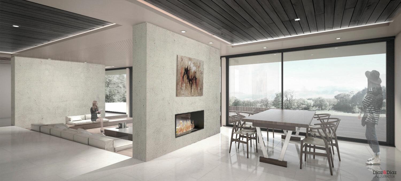 Vivienda unifamiliar en dorneda d az d az arquitectos - Arquitectura de interiores coruna ...