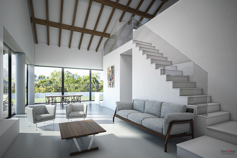 Vivienda unifamiliar d az d az arquitectos a coru a for Viviendas sobre terrazas